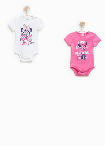 Two-pack Minnie bodysuits in 100% cotton