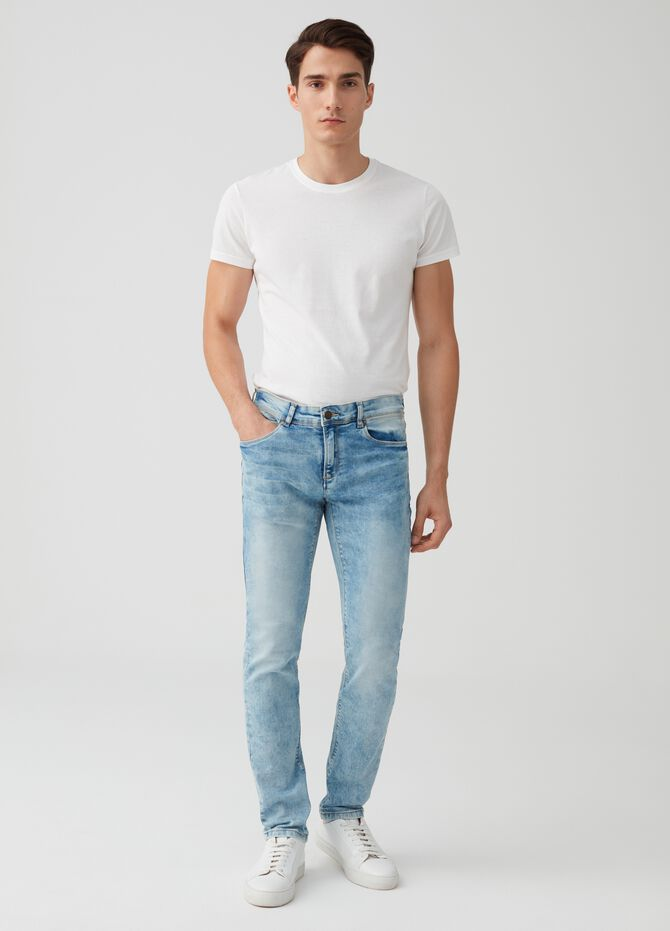 Jeans skinny fit stretch delavato
