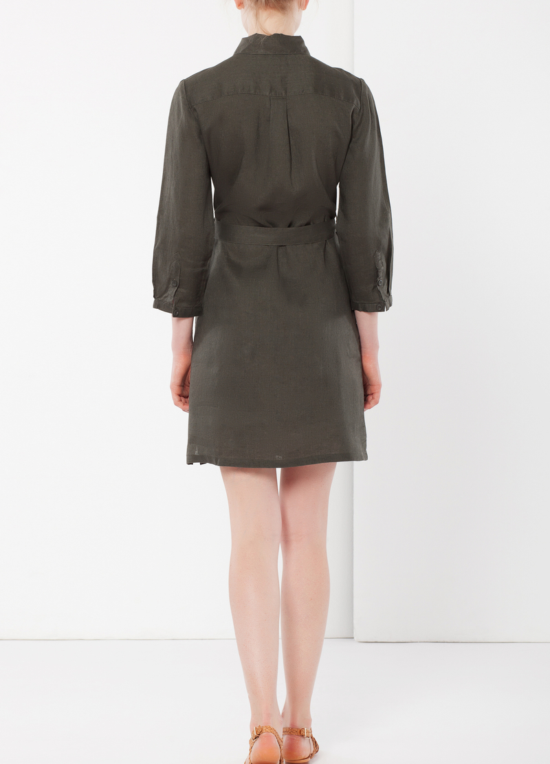 Shirt dress with pockets image number null