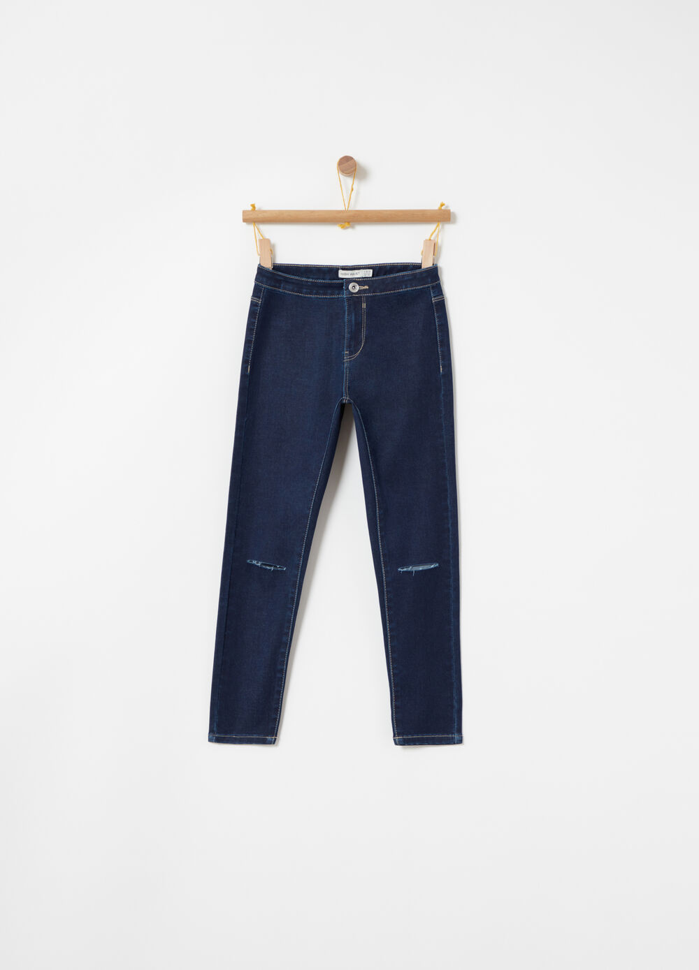 Jeans leggeri stretch used vita alta