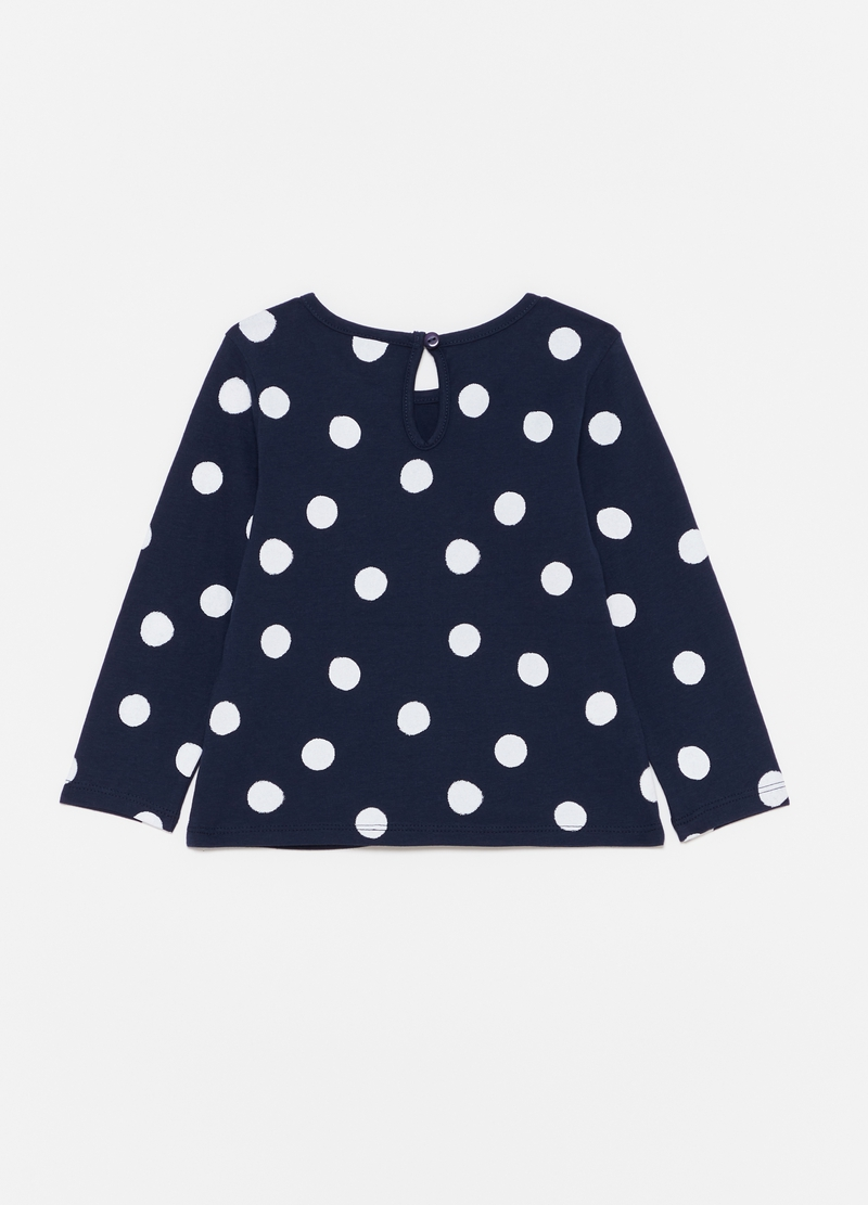 Polka dot T-shirt with glitter print image number null