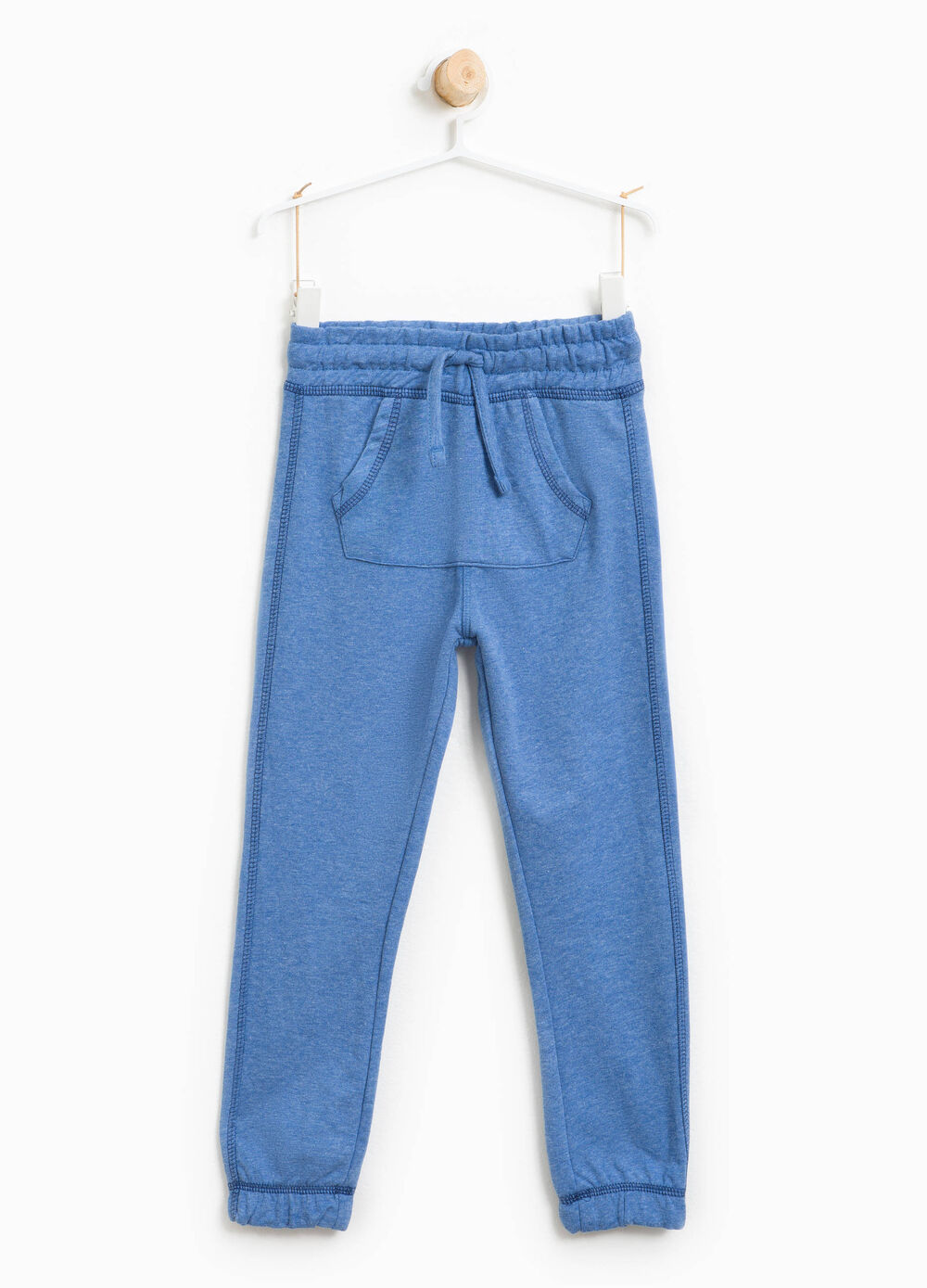 Cotton joggers with pouch pocket