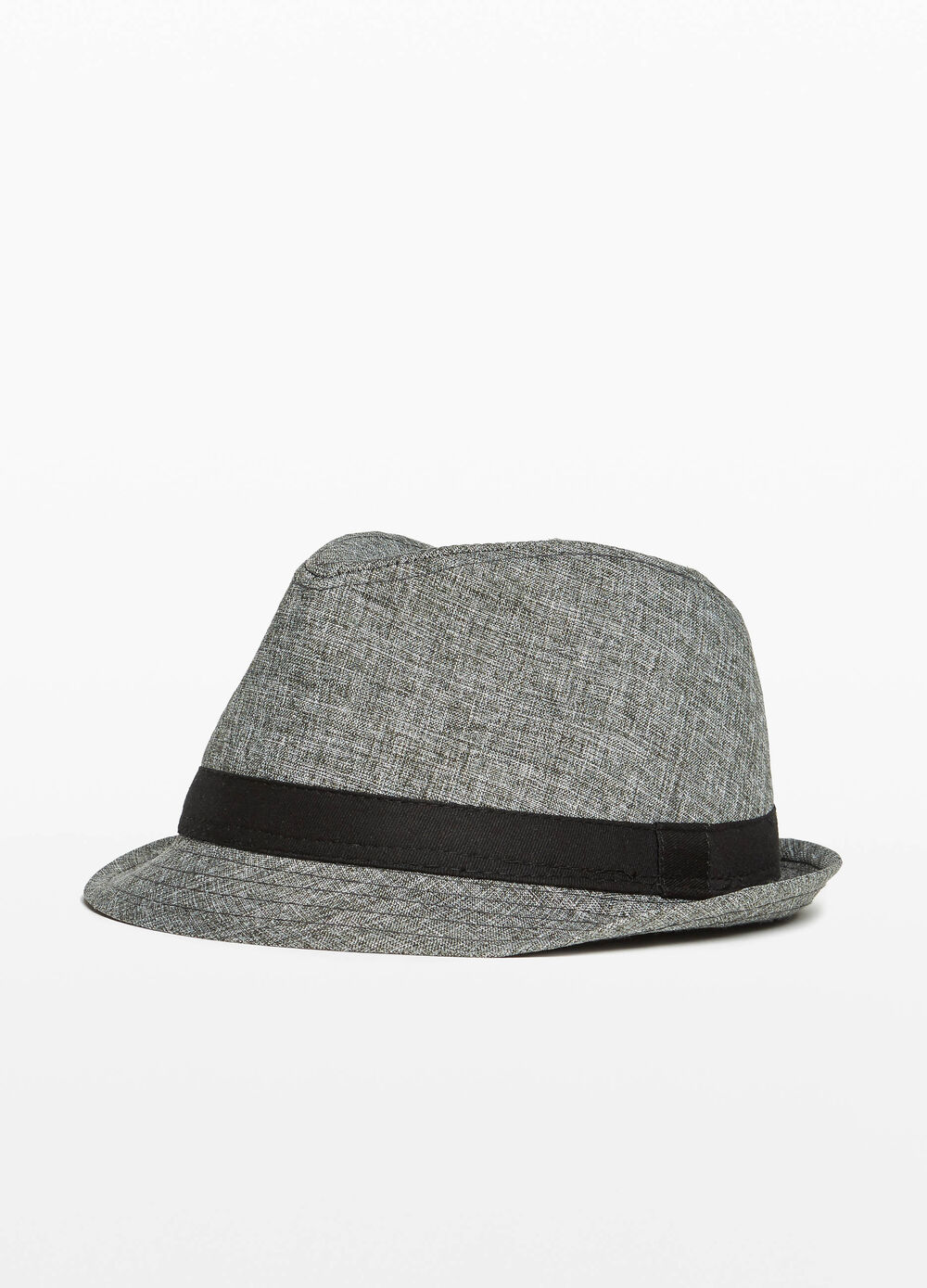 Wide brim mélange hat