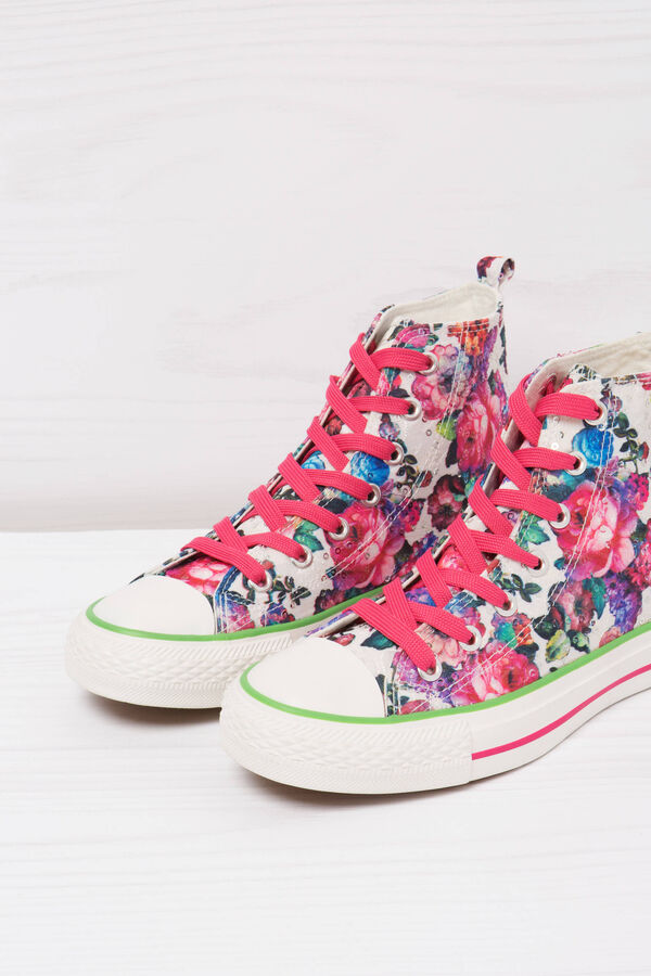 Floral print high-top sneakers   OVS