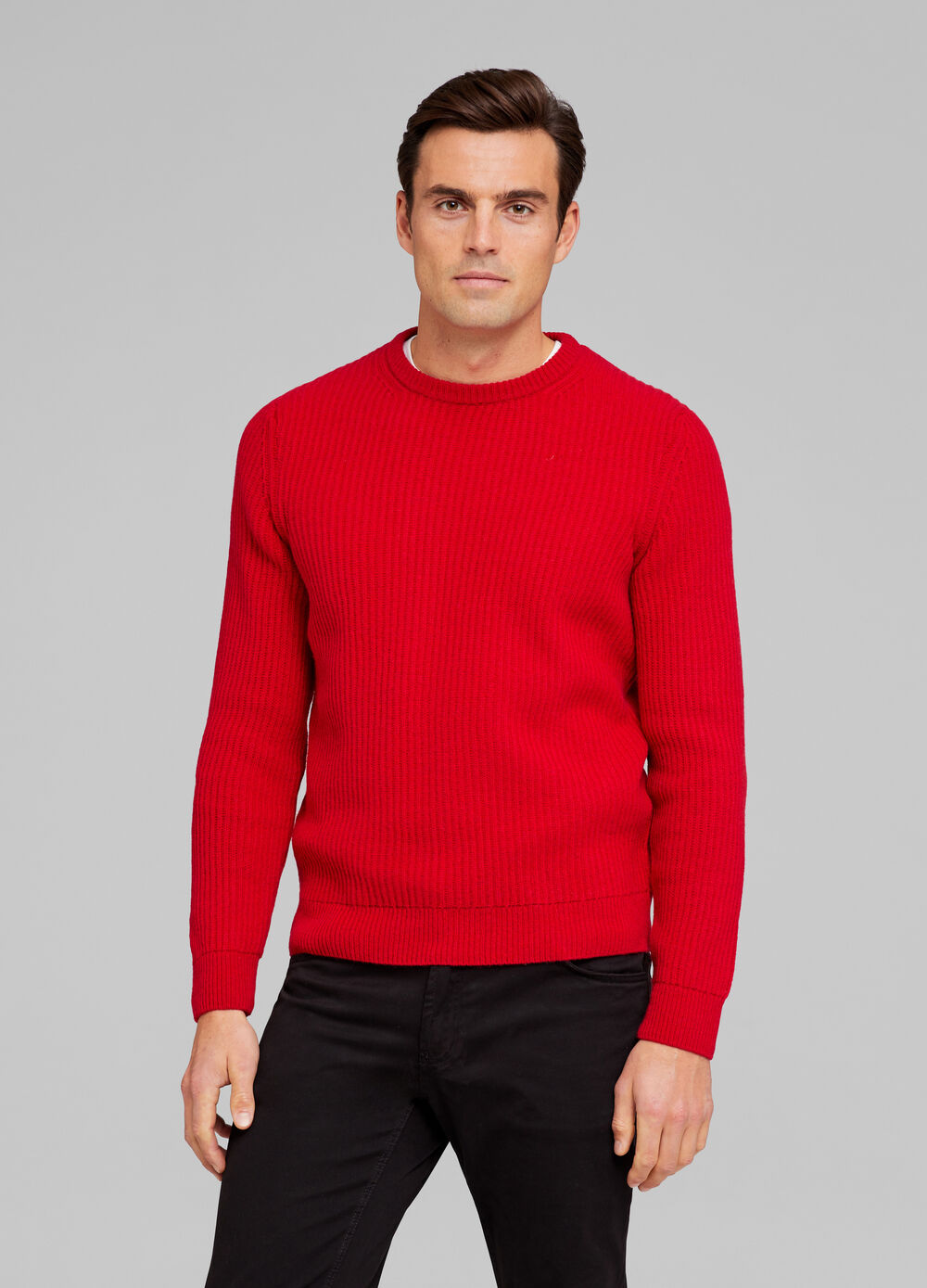 Supergeelong pullover with round neck