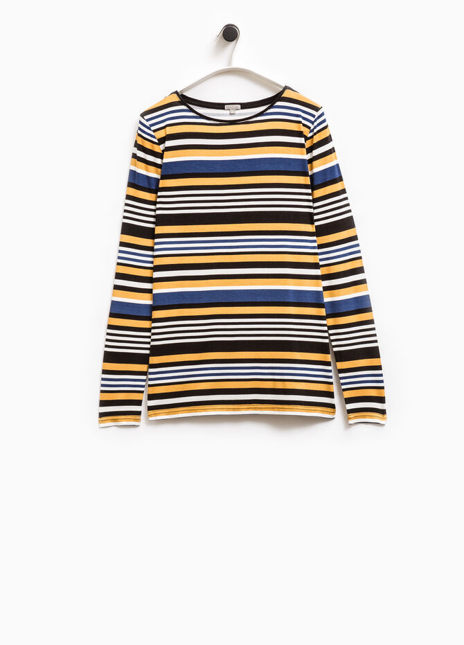 Smart Basic striped stretch T-shirt