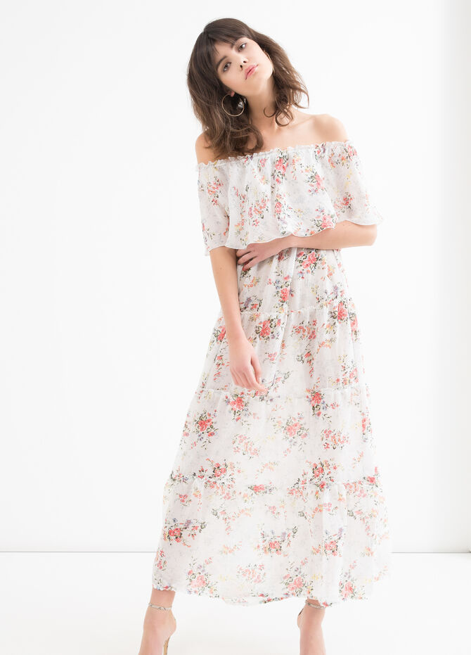 Long stretch floral dress