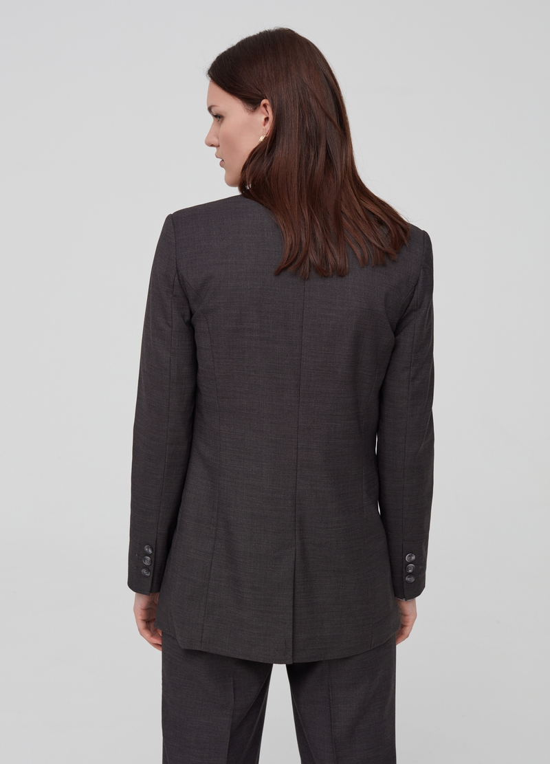 Solid colour blazer with pockets image number null