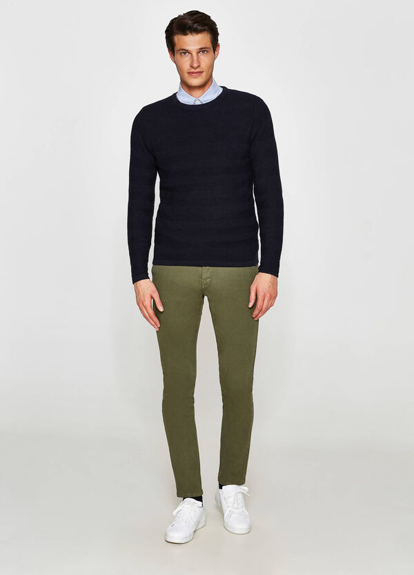 Pantaloni chino slim fit cotone stretch