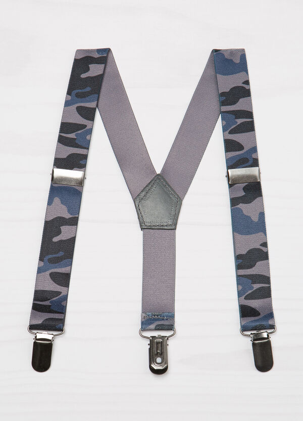 Stretch braces with camouflage pattern | OVS