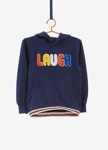 100% cotton sweatshirt with lettering patches