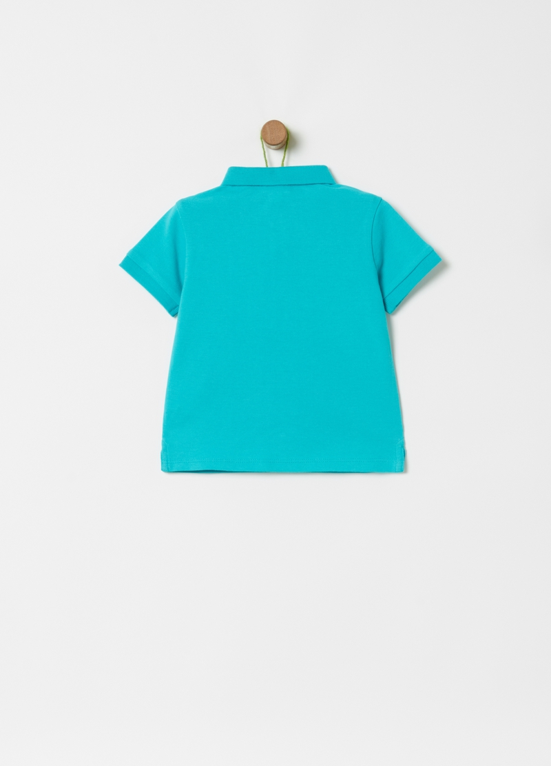 100% organic cotton polo shirt with cactus embroidery image number null
