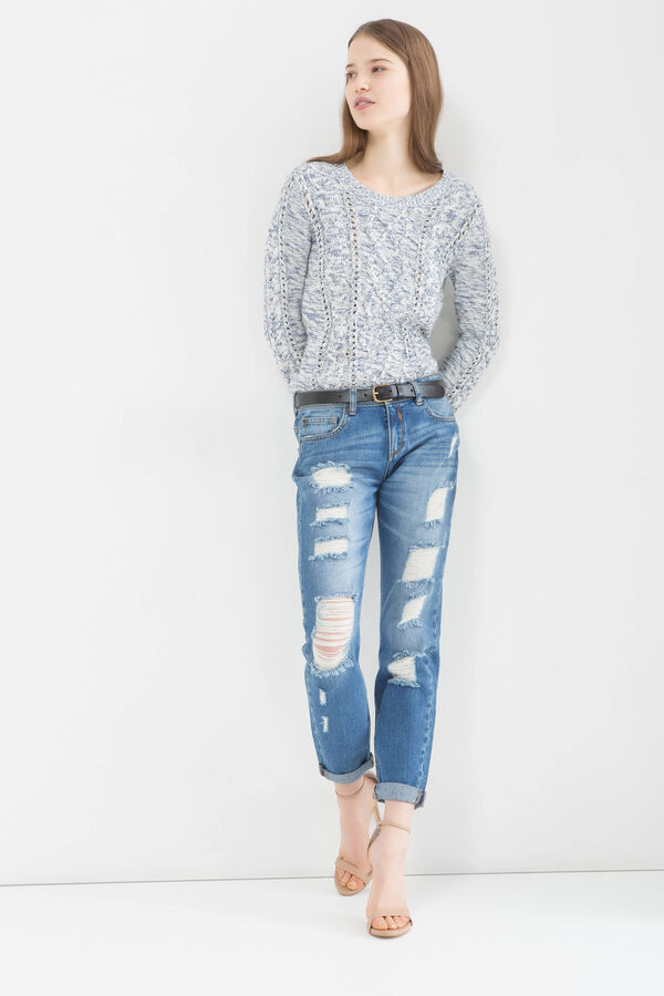 Ripped girlfriend jeans | OVS