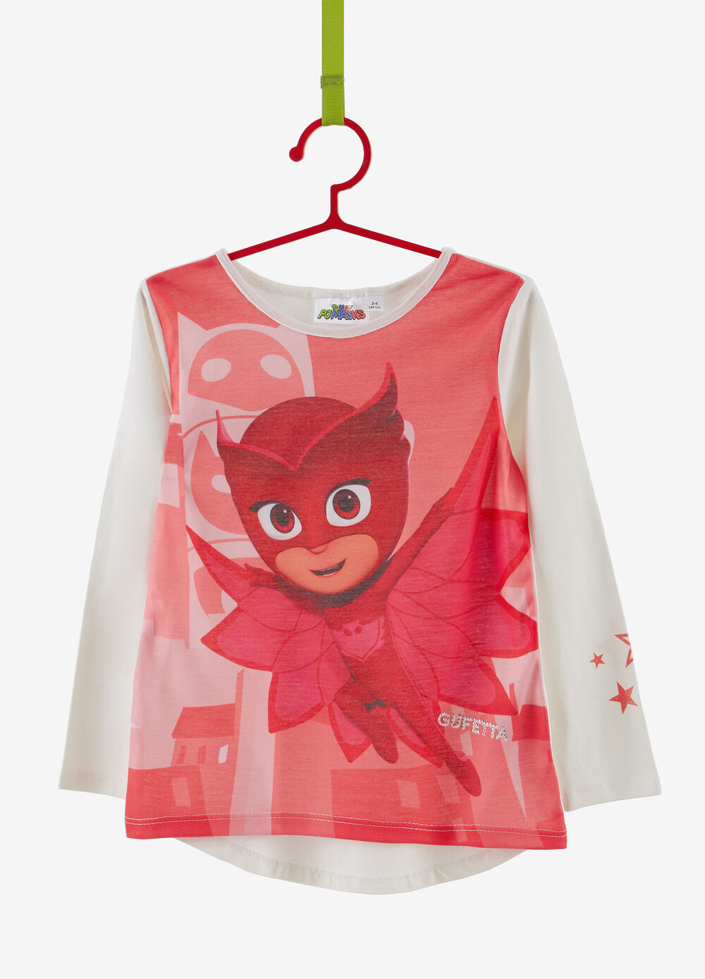 T-shirt with PJ Masks print and long sleeves