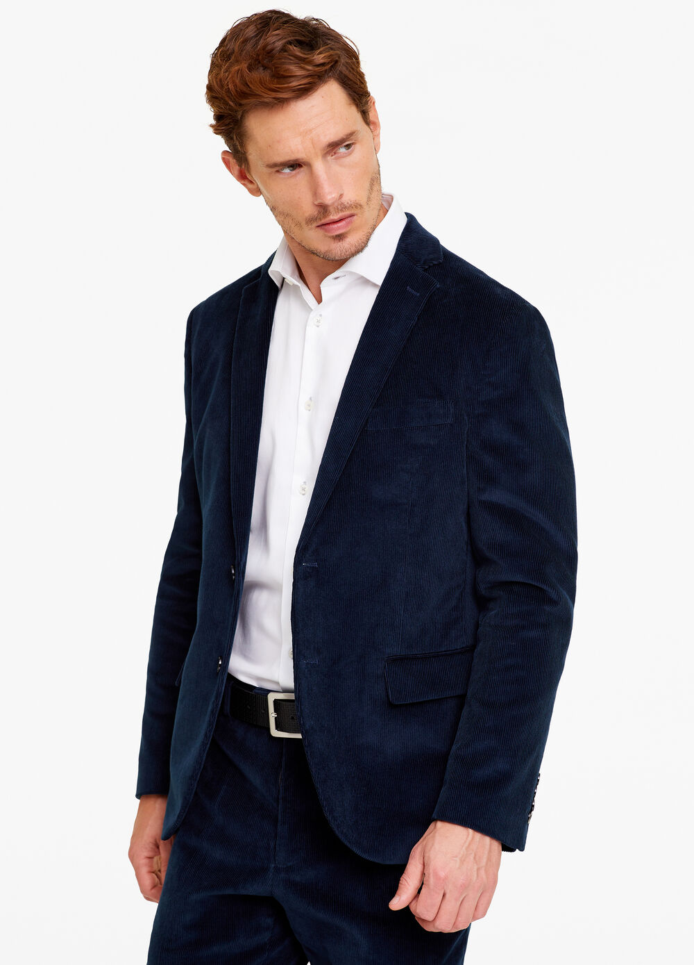 Blazer due bottoni regular fit a coste