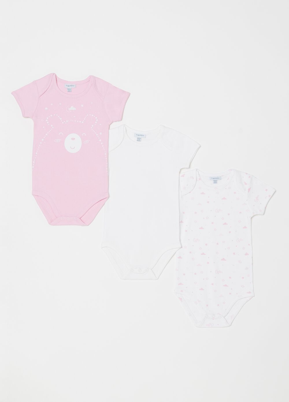 Set tre body puro biocotton girocollo