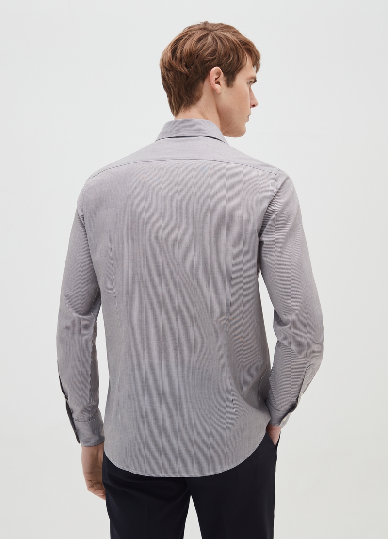 Slim fit striped shirt image number null
