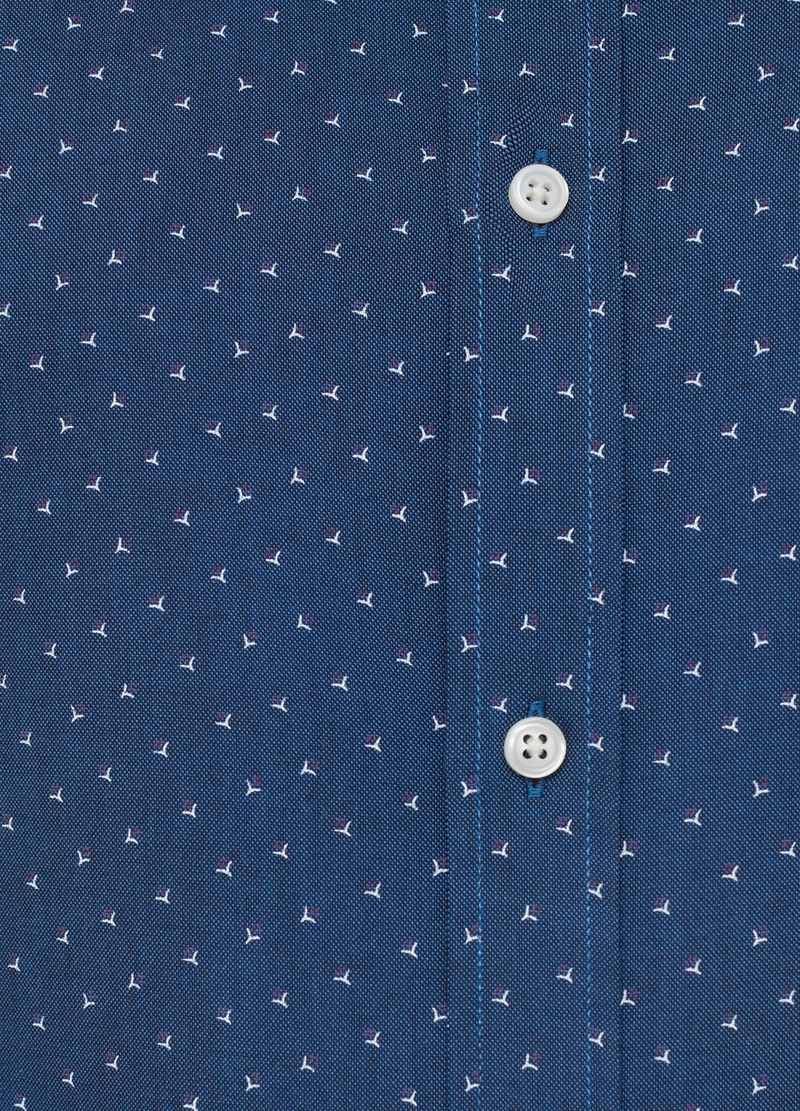 Regular-fit shirt with cutaway collar and pattern image number null