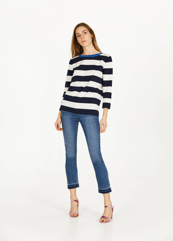 Jeans ankle fit stretch delavati