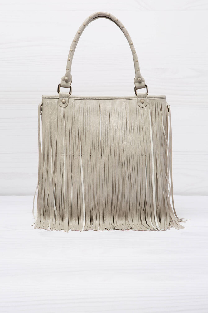 Shoulder bag with fringe