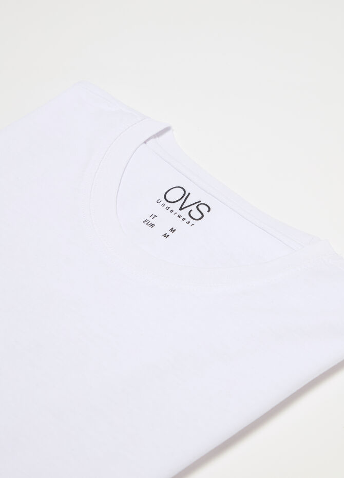Crew neck T-shirt in organic cotton