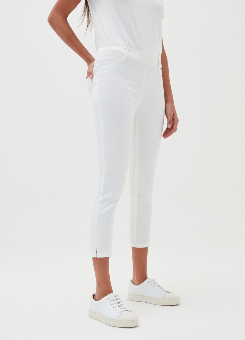 Stretch crop jeggings image number null