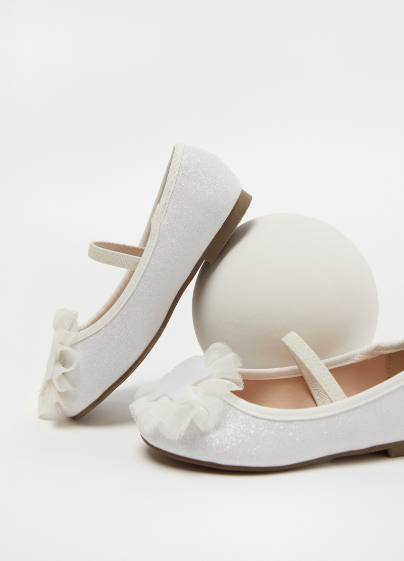 Glitter ballerina flats with star image number null