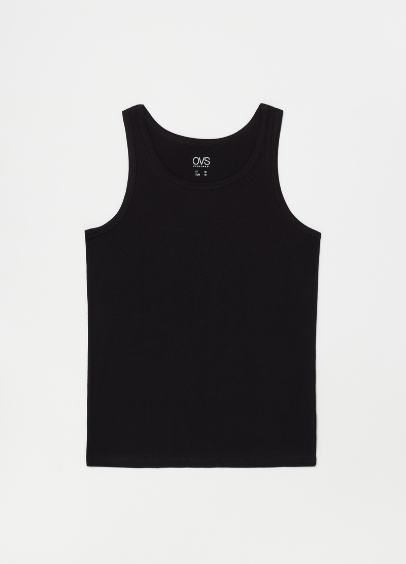 Three-pack solid colour racerback vests image number null