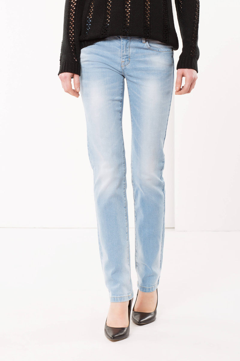 Jeans regular fit con spennellature image number null