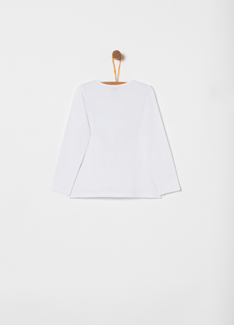 T-shirt stampa glitter puro cotone image number null