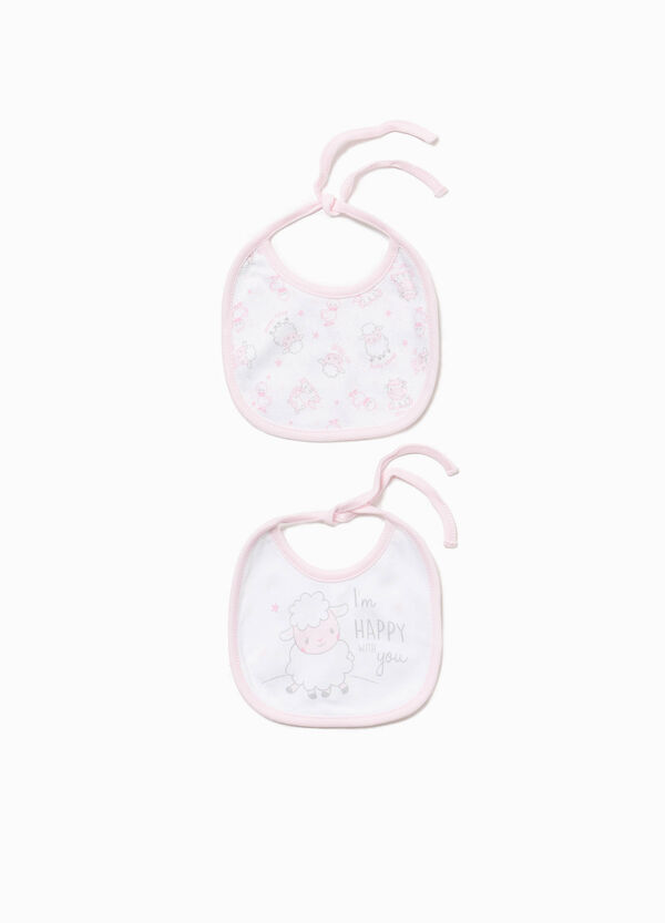 Two-pack bibs with animals pattern