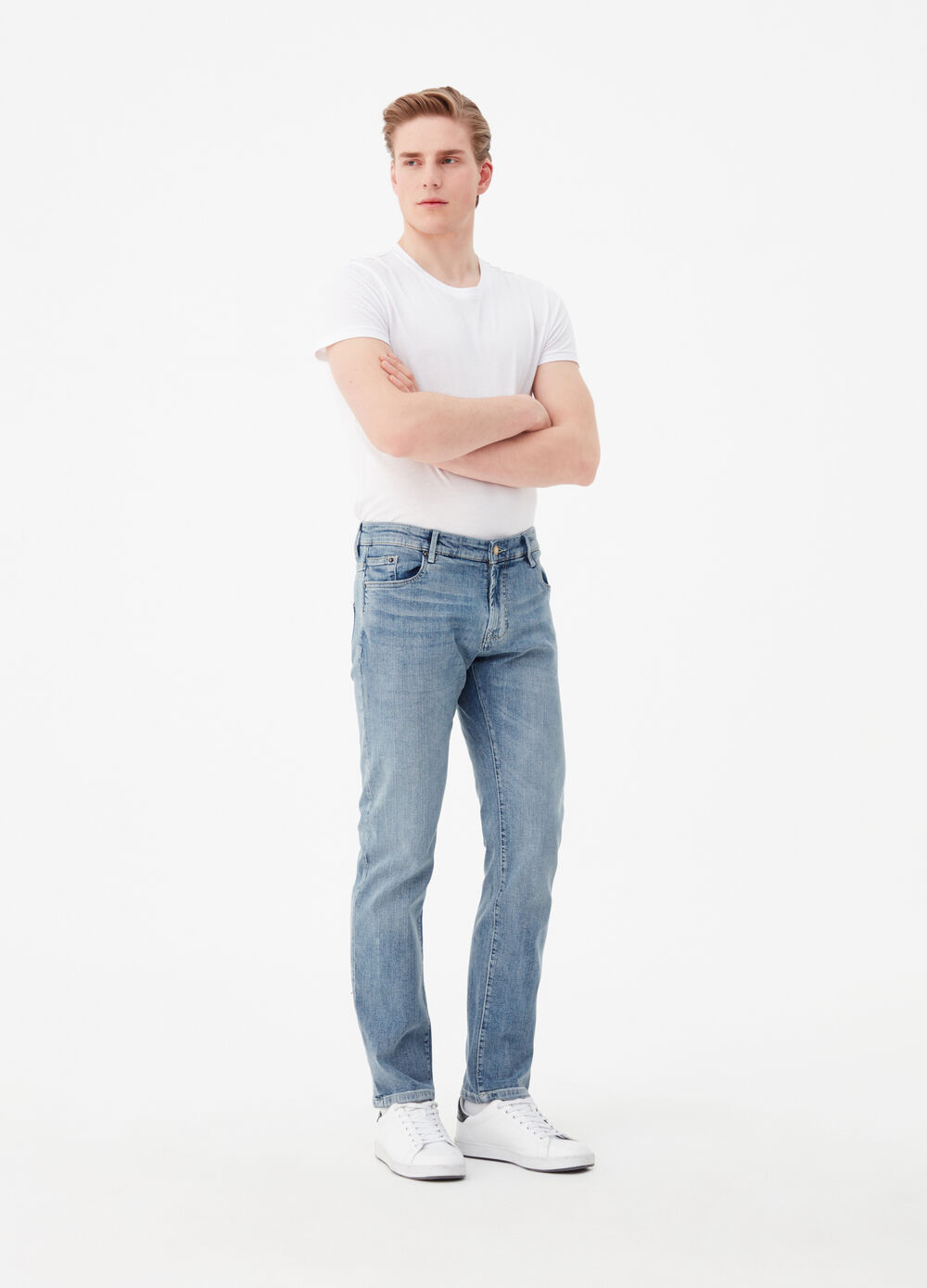 Regular-fit stretch jeans