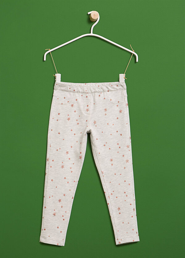 Cotton trousers with star pattern | OVS