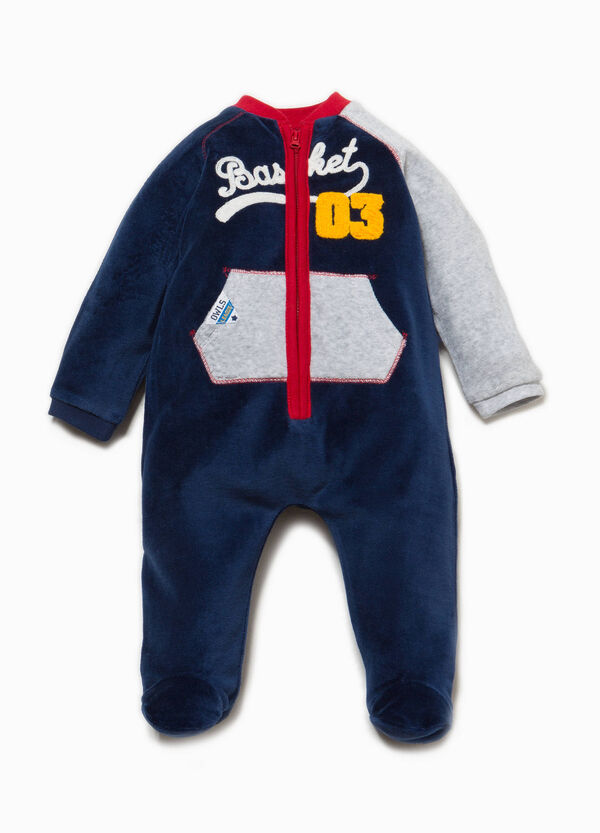 Onesie with feet and embroidery | OVS