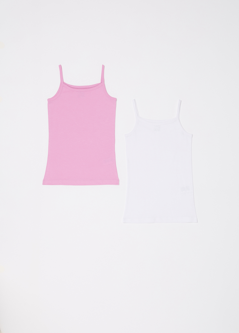 Set of two biocotton vests image number null