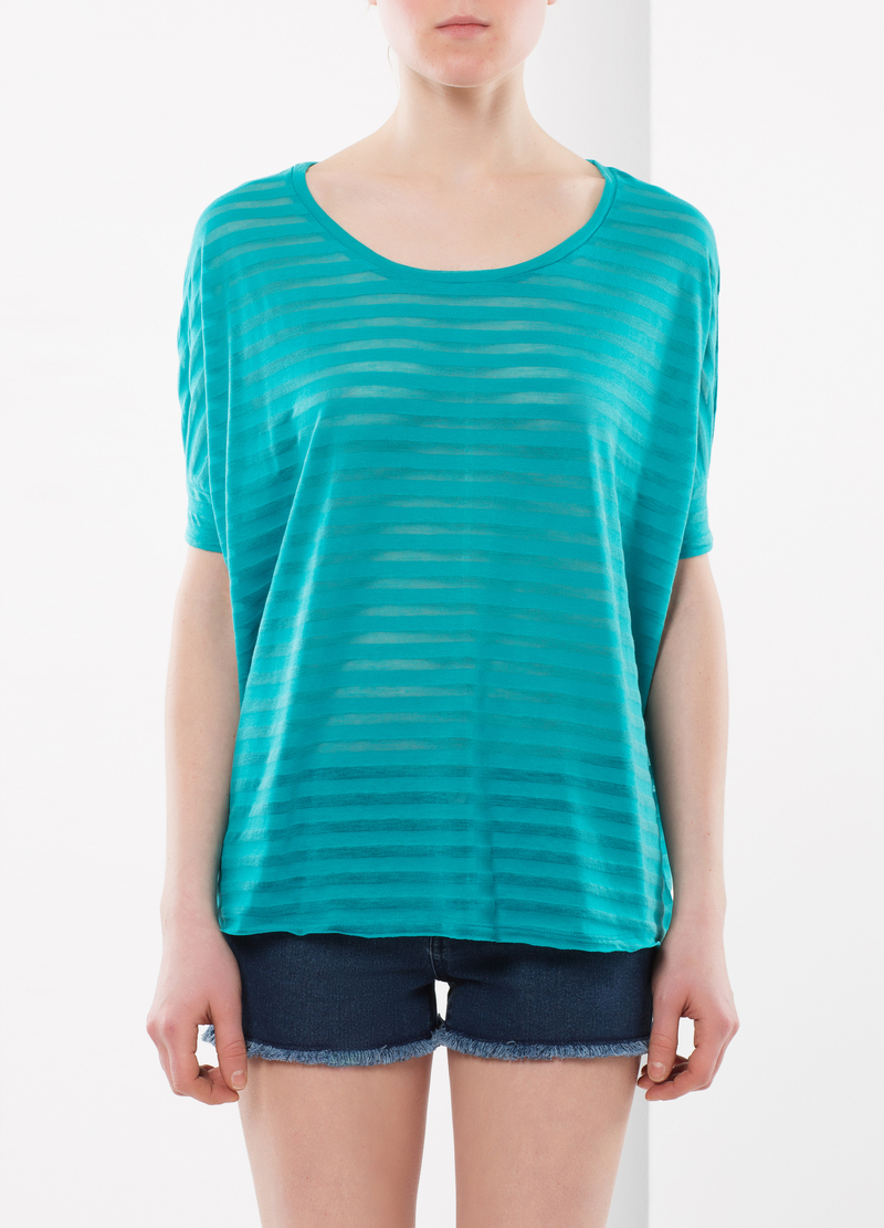 Blusa a righe trasparenti image number null