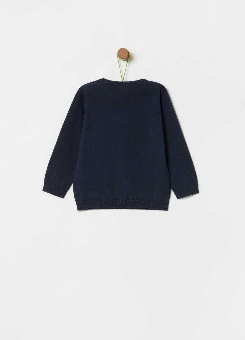 Organic cotton knitted pullover image number null
