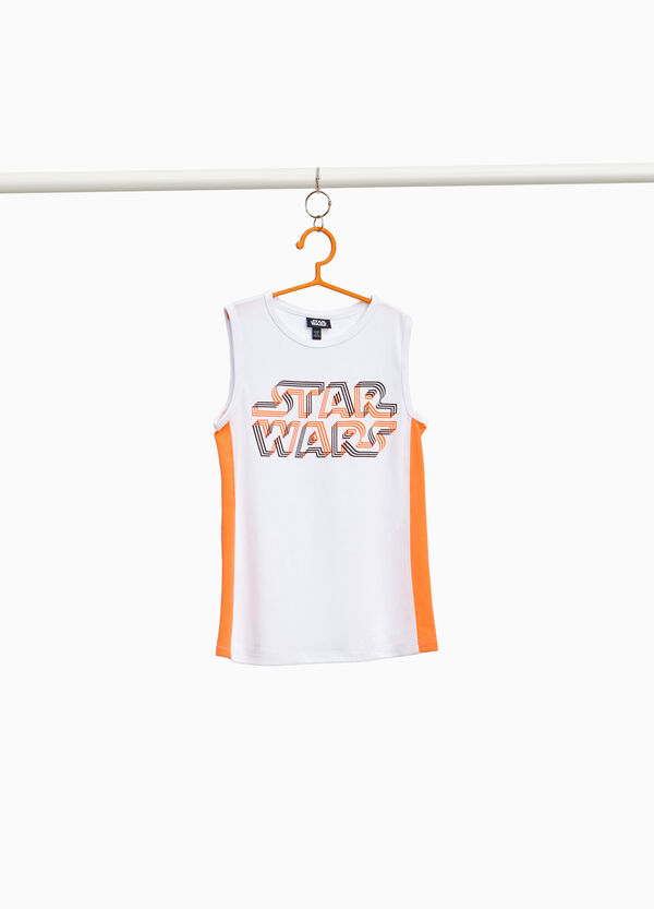 Star Wars print vest with bands