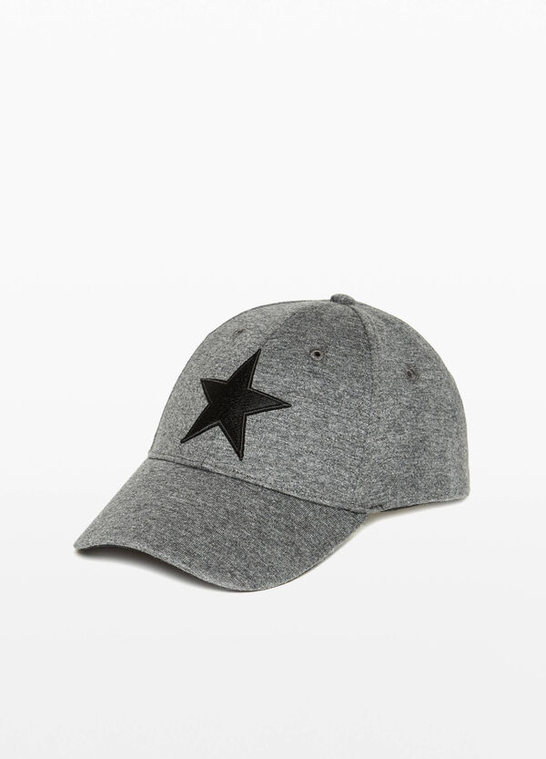 Baseball cap with star print