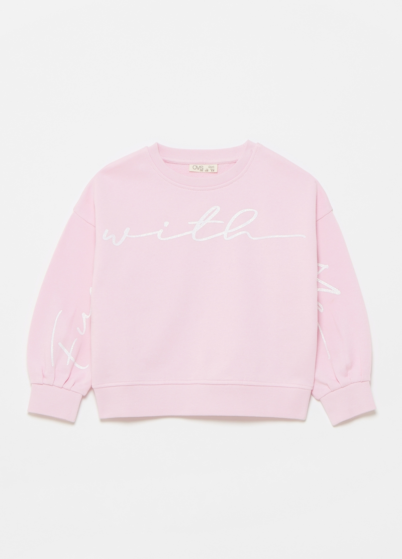 100% cotton sweatshirt with printed lettering image number null