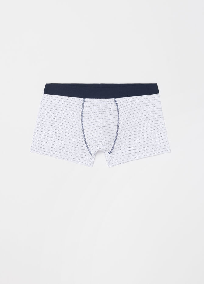 Three-pack boxer shorts with pattern in stretch cotton