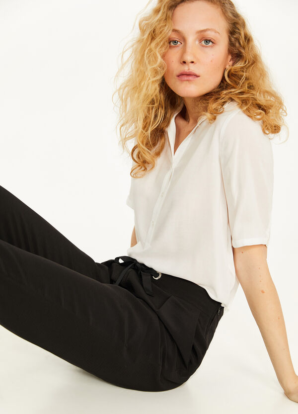 Jogger-fit trousers with drawstring
