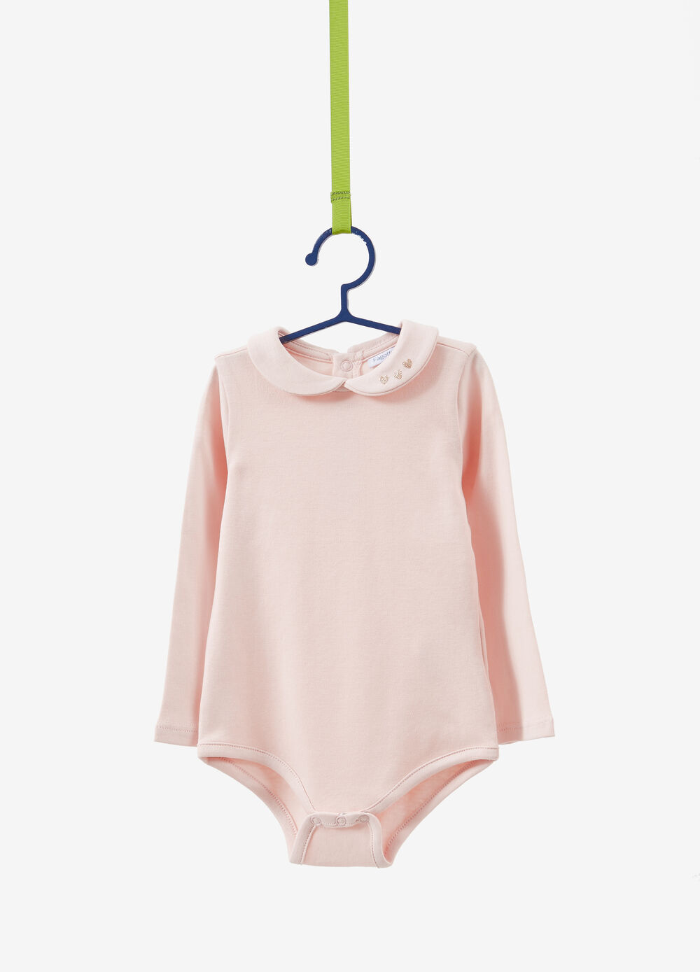 100% cotton bodysuit with long sleeves