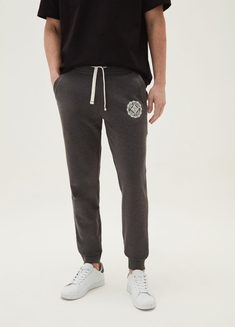 Joggers con coulisse e stampa image number null