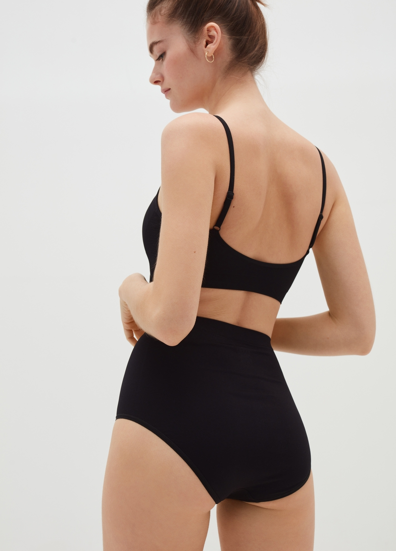 High-waisted maximum-comfort seamless briefs image number null