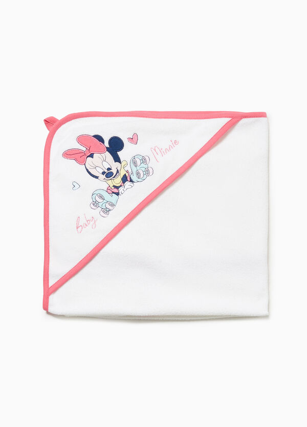 Cotton bathrobe with Minnie Mouse patch