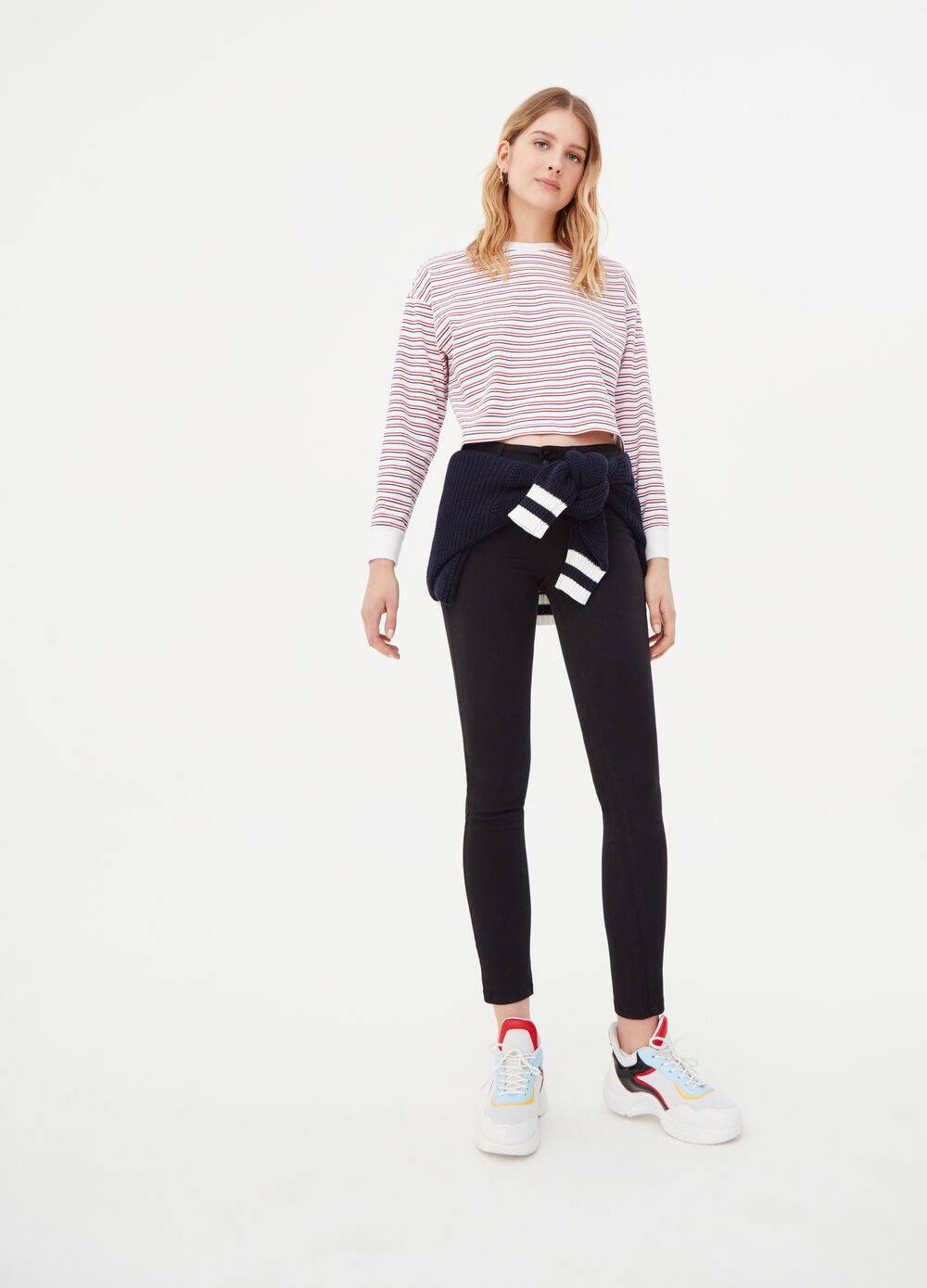 Push-up super-skinny-fit trousers