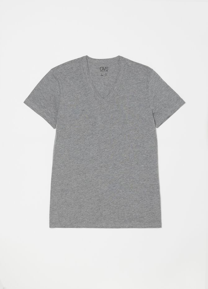 Two-pack mélange undershirts with V neck