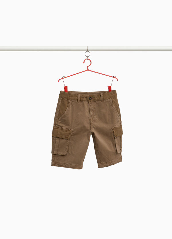 Bermuda chino cargo cotone stretch