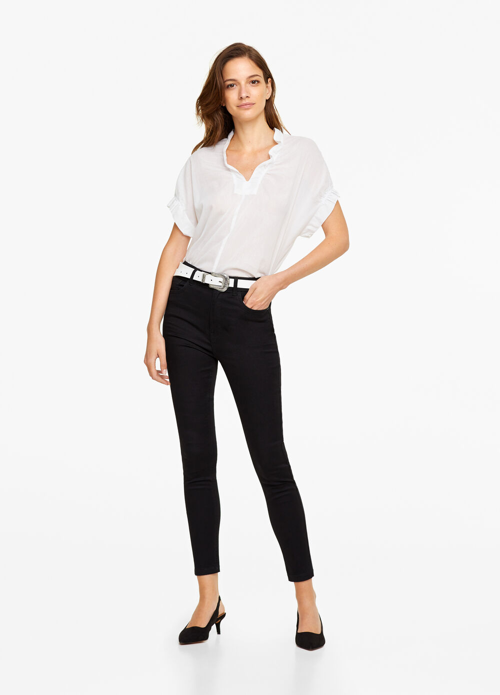 High-waist, super skinny-fit jeans
